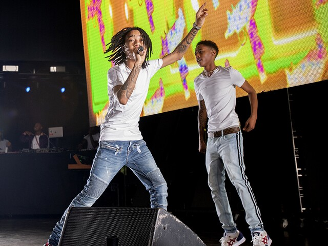 Rappers G-Eazy, Lil Uzi Vert, Ty Dolla $ign, YBN Nahmir and P-LO at Riverbend