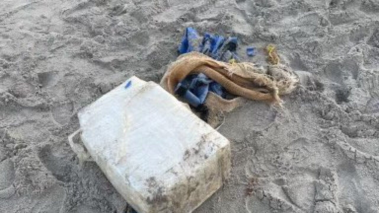 cocaine washes ashore on beach in Boca Raton