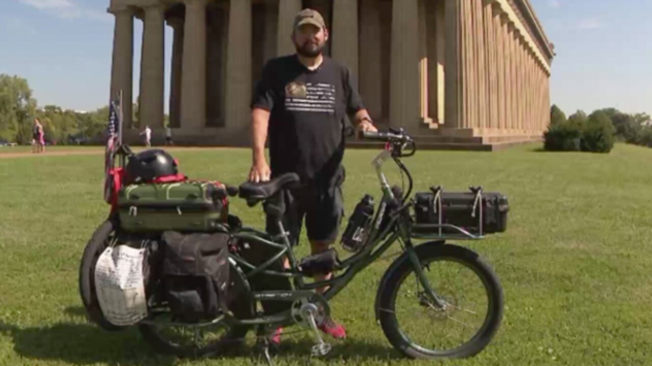 Veteran Rides Across U.S. For Soldiers With PTSD