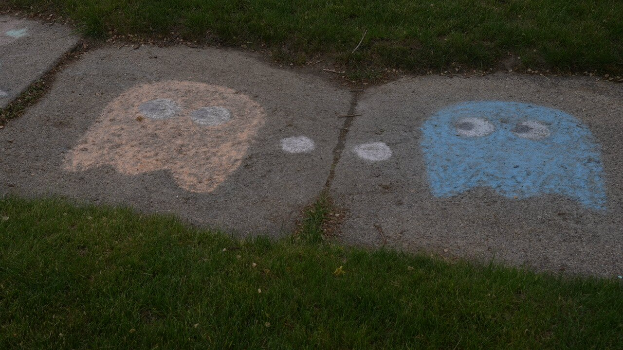 PacMan ghosts on Maplewood Avenue in Lansing