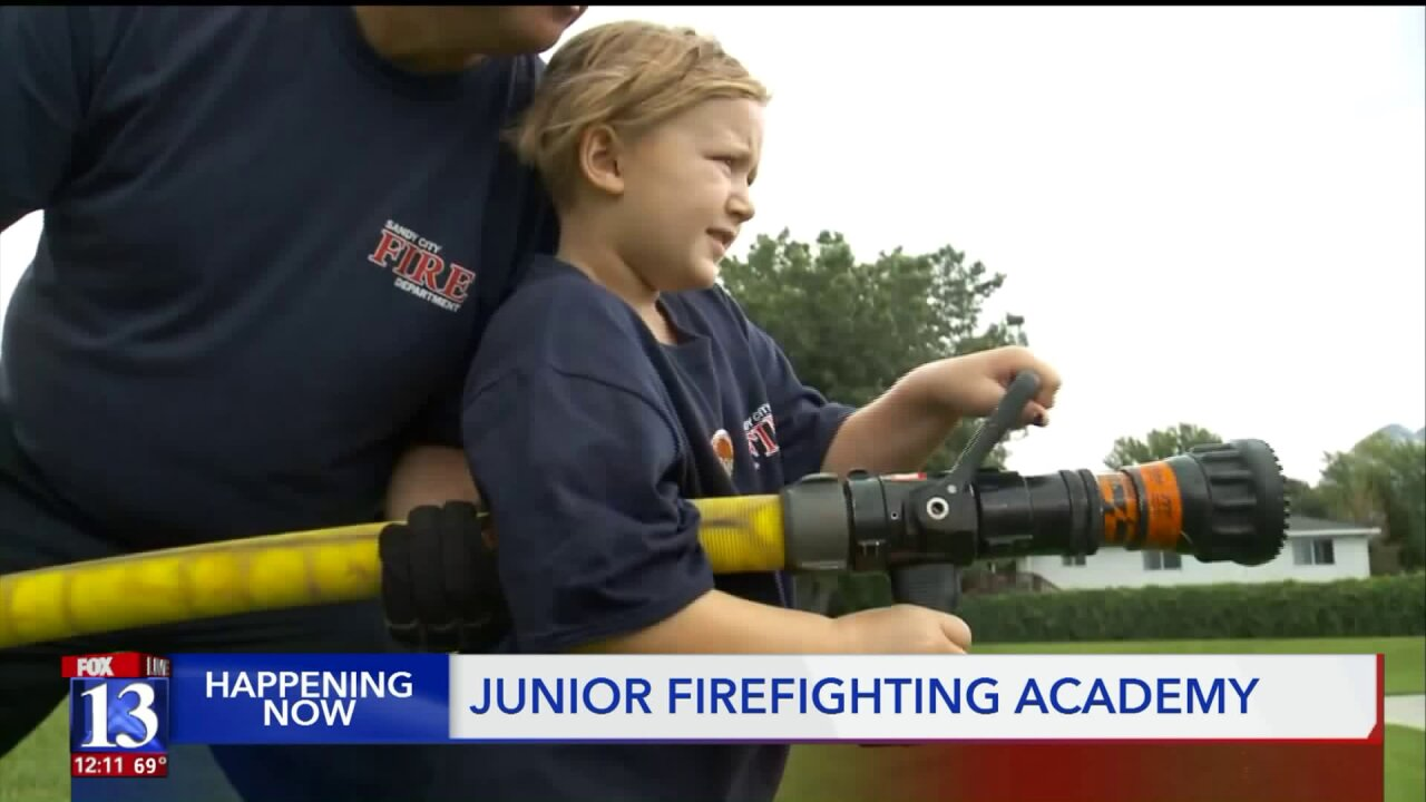 It's graduation day at Sandy's Junior FirefighterAcademy