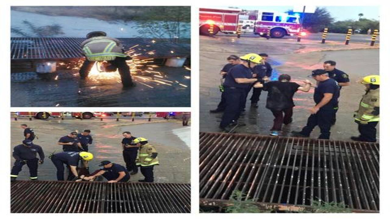 Tucson firefighters rescue man from storm drain