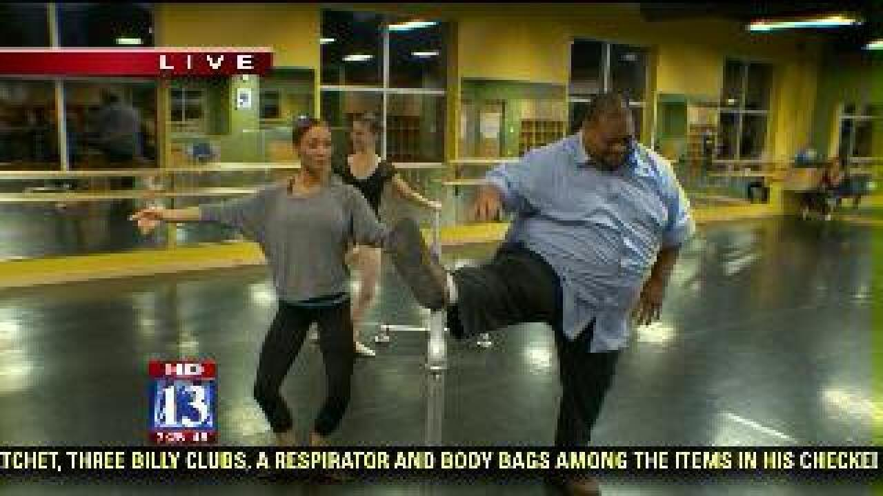 Big Budah shows off his ballet moves