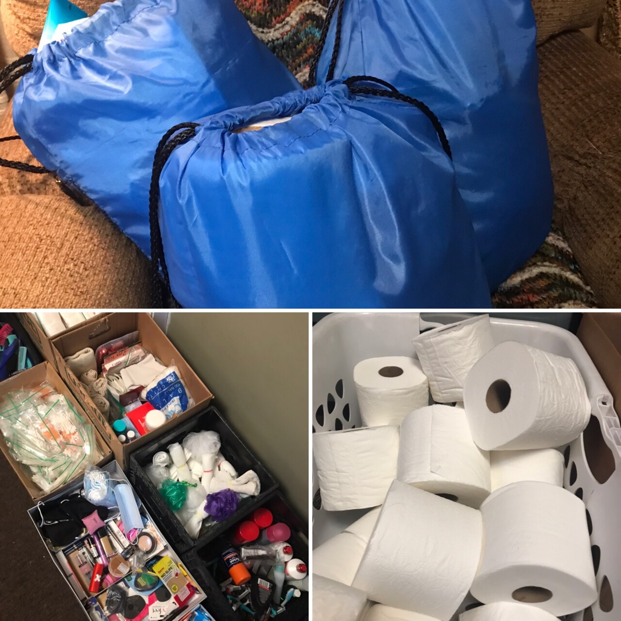 After Turner makes her big clothing donation, she fills up 'Blessings Bags' to handout to the homeless.