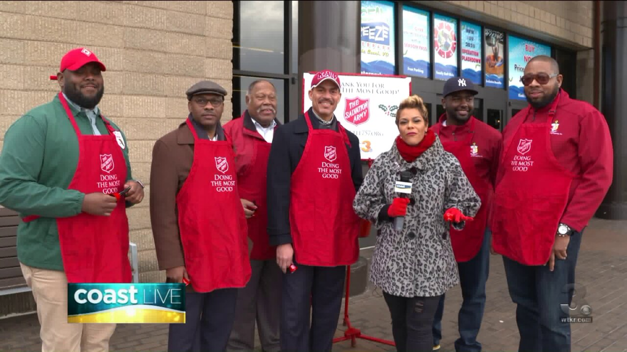 Ringing bells with the Salvation Army on Coast Live