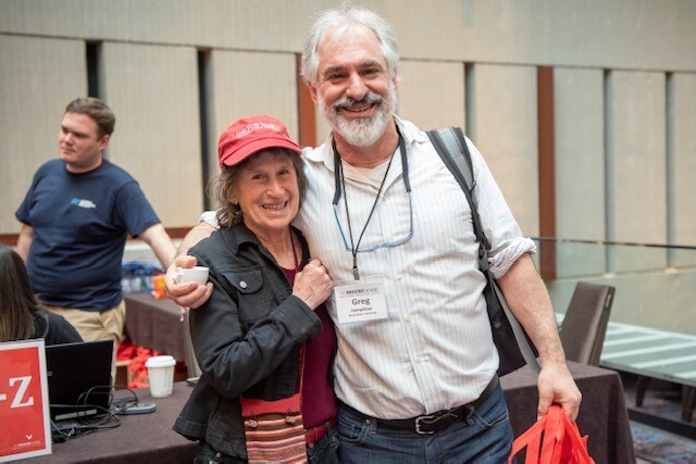 Claudia Witman and Greg Hampikian at the Annual Innocence Network conference 2019. Witman, a private investigator, brought Hamilton's case to Chartier and Hampikian.