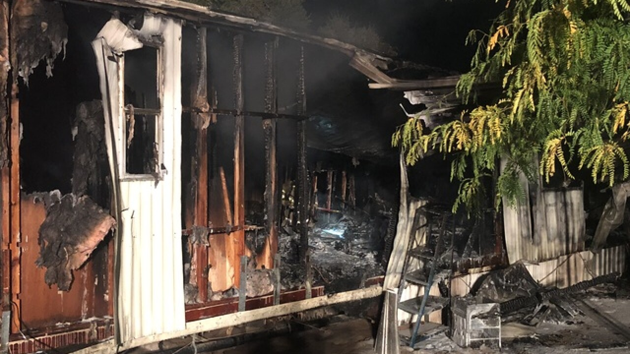 NW Fire battles mobile home fire