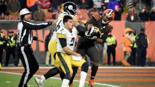 Browns player who swung helmet at Steelers QB suspended for rest of season at minimum