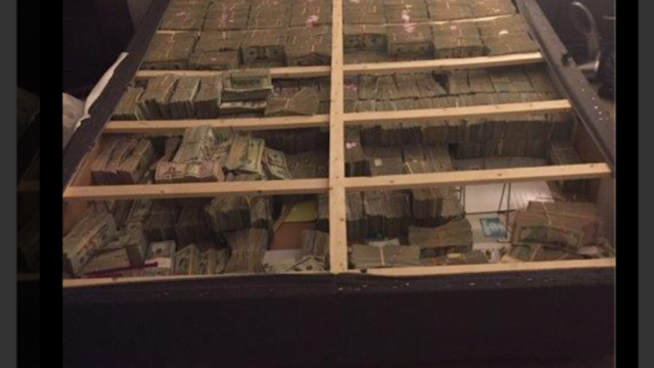 DOJ agents find $20 million cash stuffed inside box spring