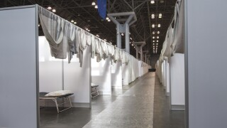 New York transforms Javits Center into makeshift hospital to help deal with overloaded system