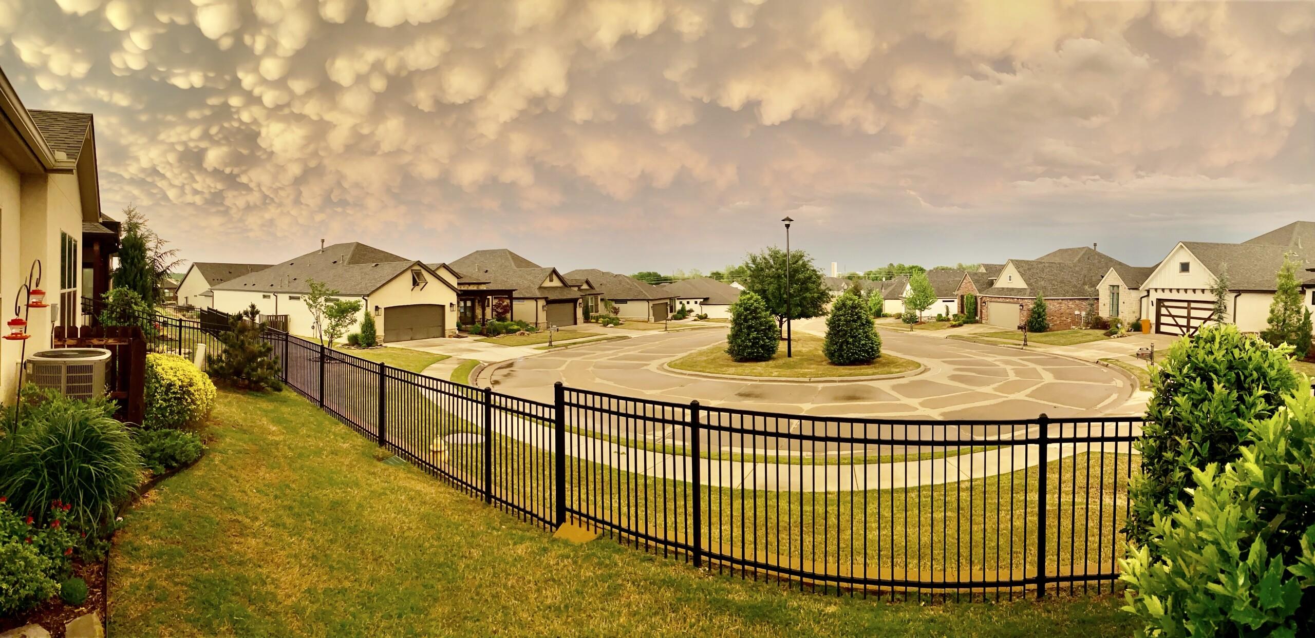 Mammatus Clouds at Hyde Park at Tulsa Hills