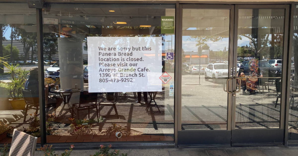 Panera Bread closes San Luis Obispo location