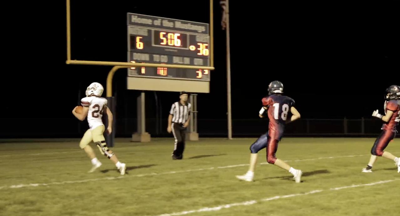 Sam Jager scores touchdown