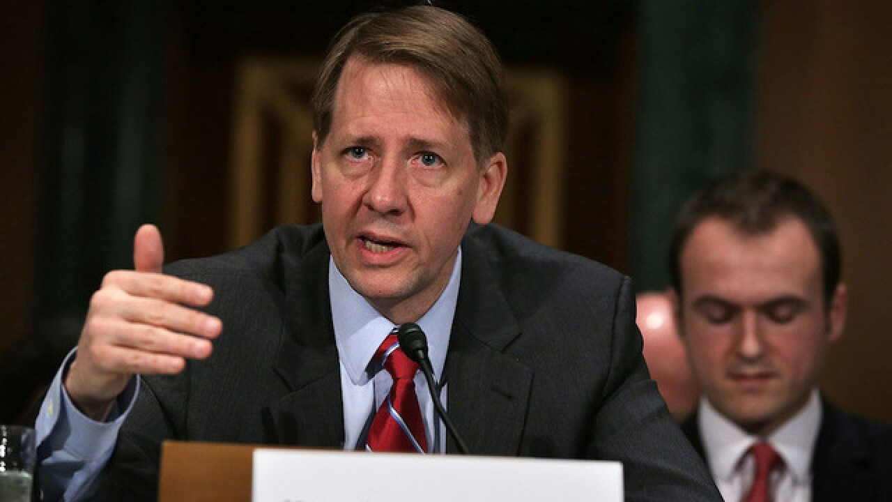 House Republican asks President Trump to fire head of Consumer Financial Protection Bureau