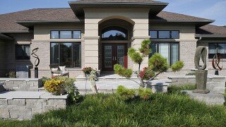 Home Tour: West Chester landscaping is architecture-inspired in the front, resort in the back
