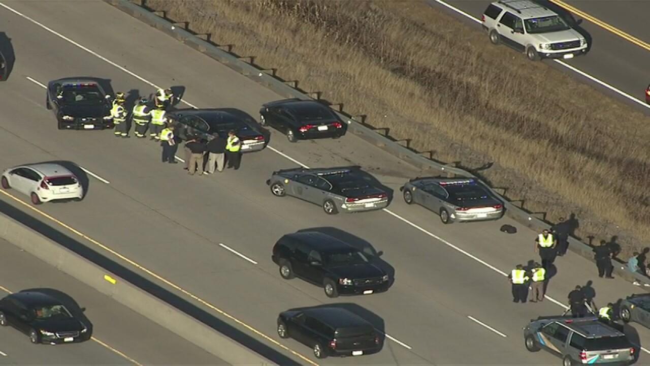 Crash closes I-25 at Tomah Road in Castle Rock