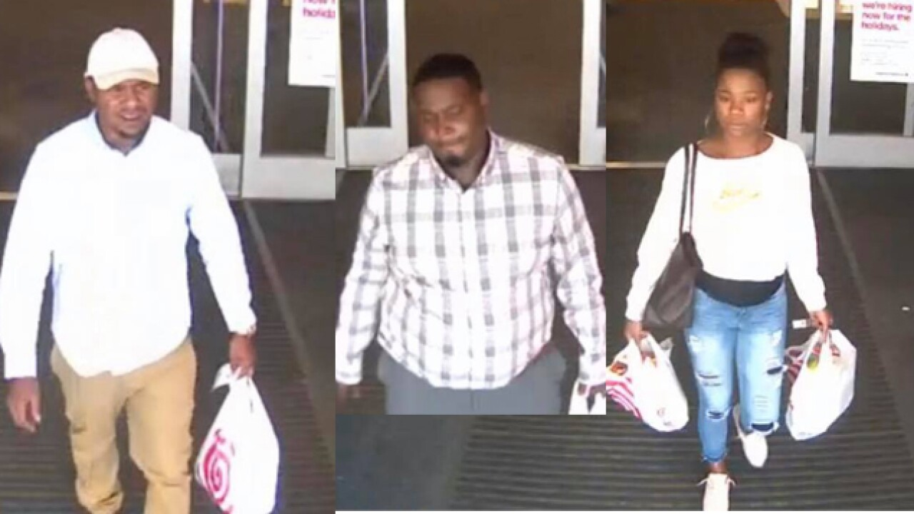 Layton Police ask for help identifying trio suspected in theft, fraud cases