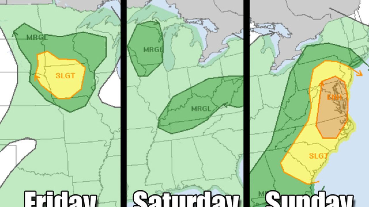 Weekend weather is wild across the U.S.