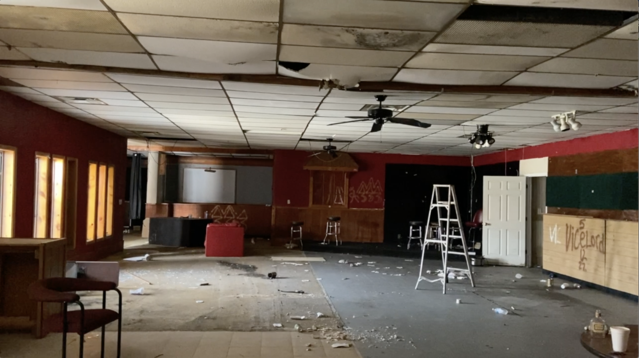 Inside of former Binni's Bar and Grill