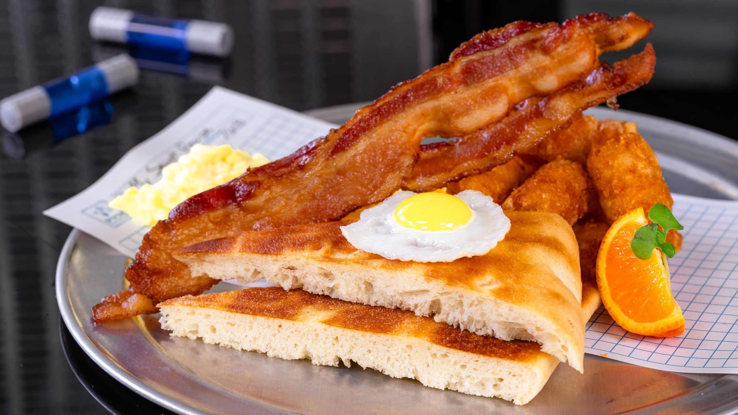Avengers Campus Food & Beverage Ð Calculated Breakfast = E x 2 + (B+P)/T Ð Eggs Two Ways