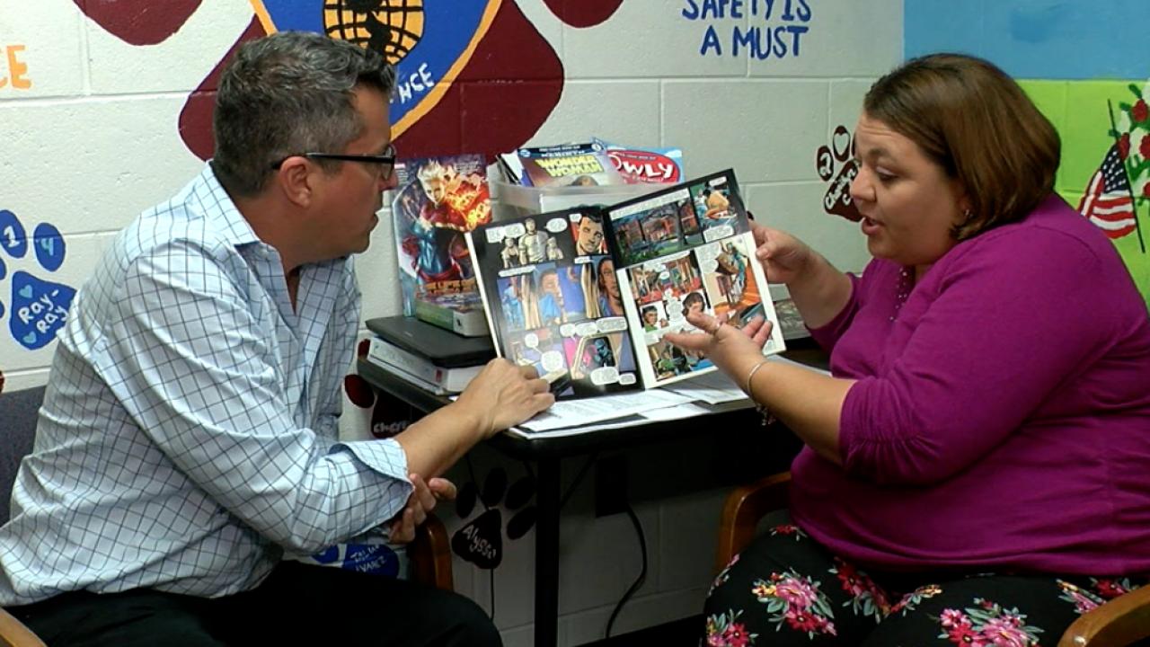 teaching comic books in classroom