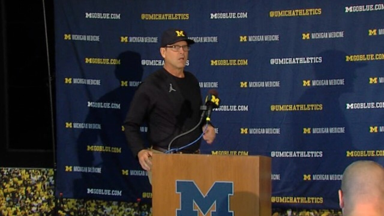 Jim Harbaugh's full Monday press conference after Michigan's loss to Notre Dame