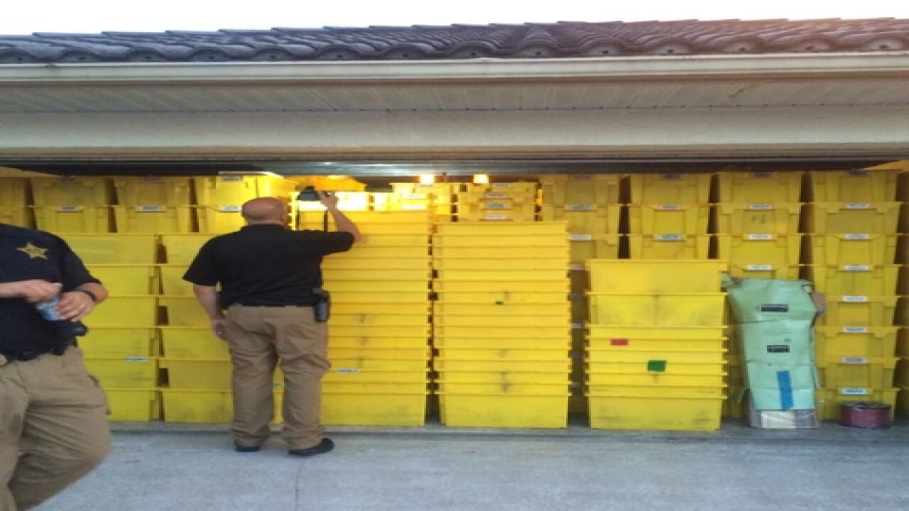 Garage full of Amazon orders found in Florida
