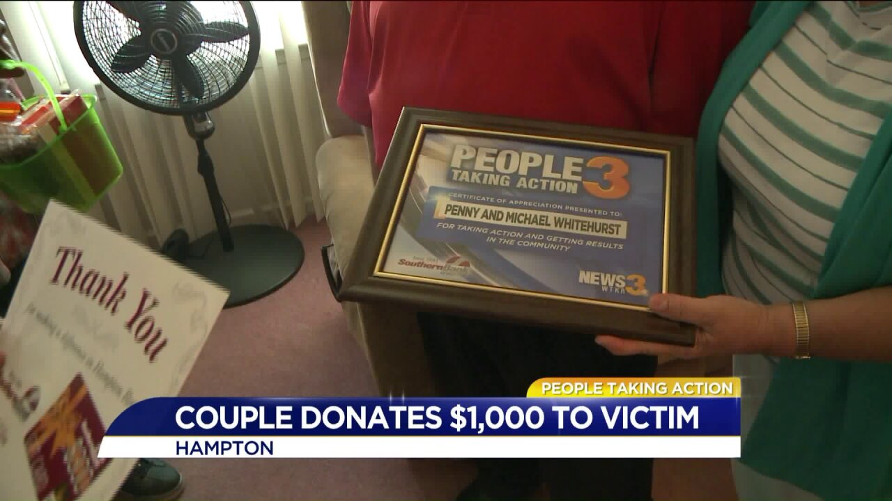 People Taking Action: Peninsula couple gives man a thousand dollars after he wasscammed