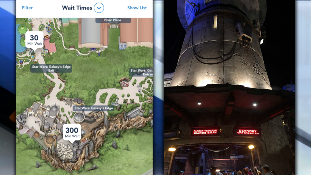 "Star Wars: Galaxy's Edge, Disney's newest ""Star Wars"" attraction, reaches capacity minutes after opening"