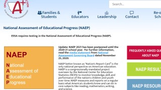 National Assessment of Educational Progress postponed until 2022