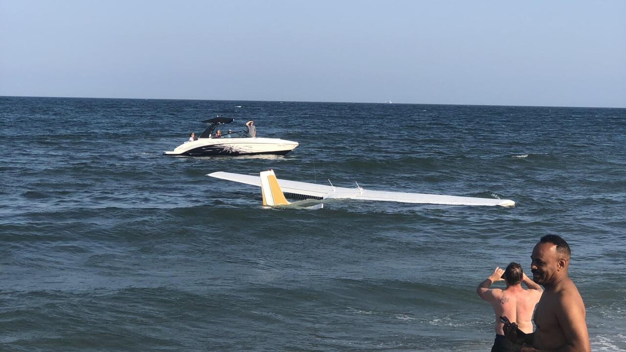 plane in ocean city