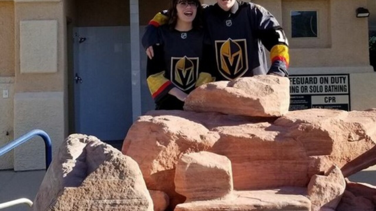 Coronado H.S. couple wears VGK jerseys to prom