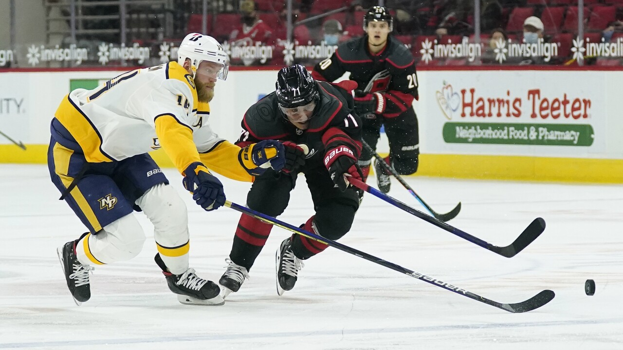 Predators Hurricanes Hockey