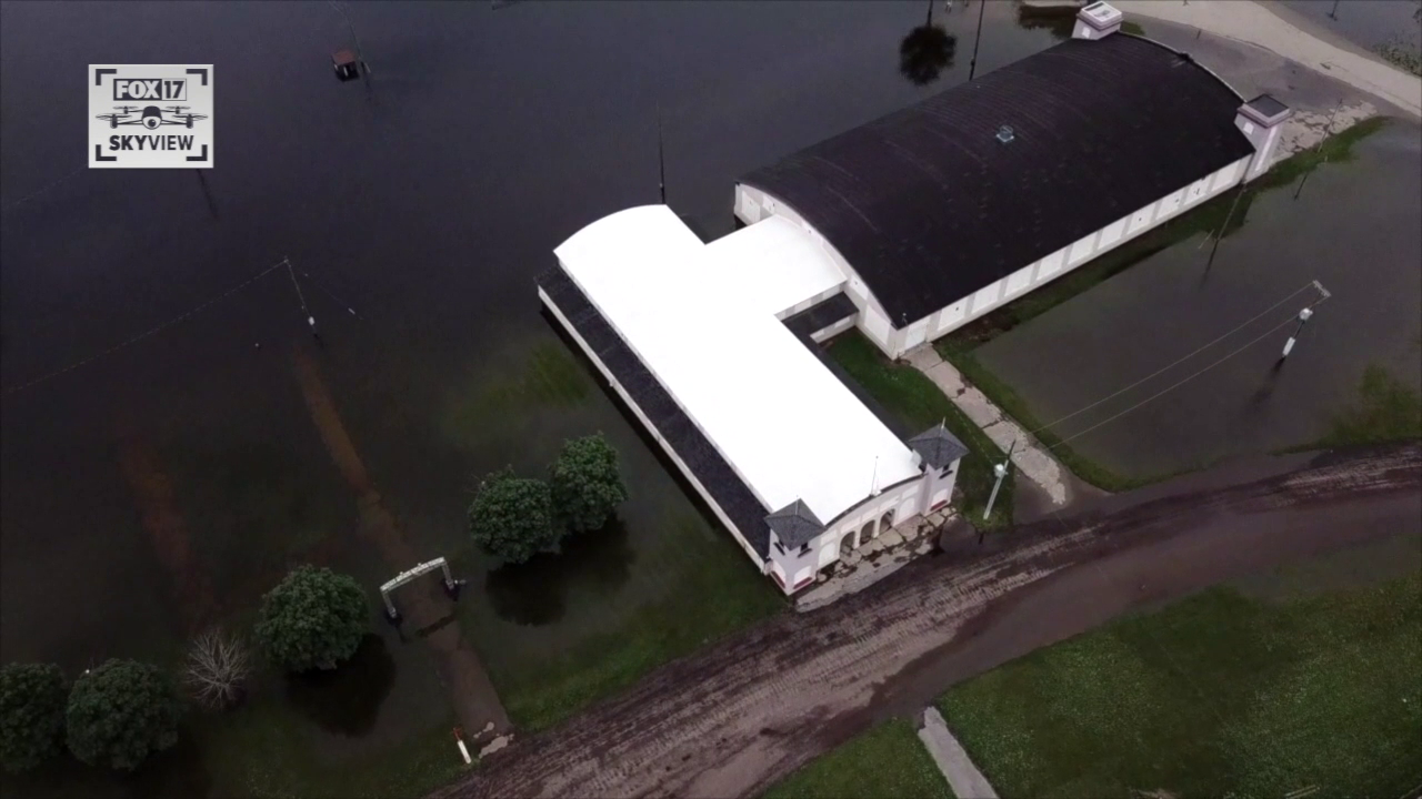 Flooding at Ionia County Fairgrounds June 30, 2021