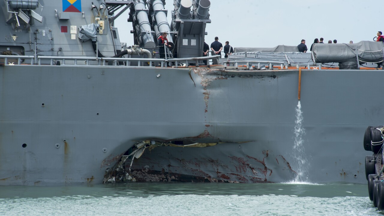 Remains discovered during searches after USS John S. McCain collision