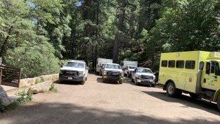 Fire crews are still stationed throughout the Mt. Lemmon and Summerhaven area after the Bighorn Fire.