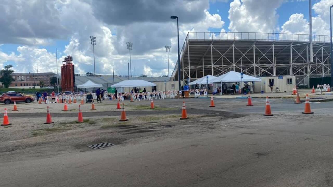Bragg Memorial Stadium Testing Center