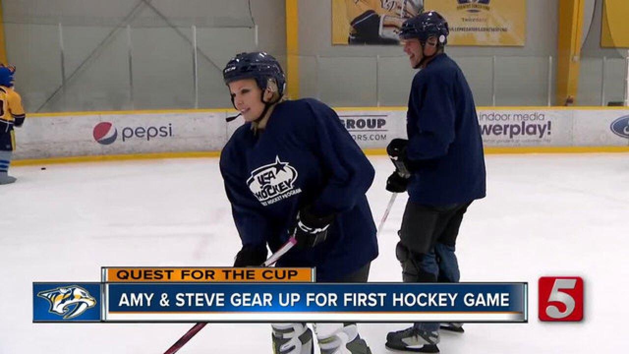 Steve Hayslip & Amy Watson Hone Hockey Skills