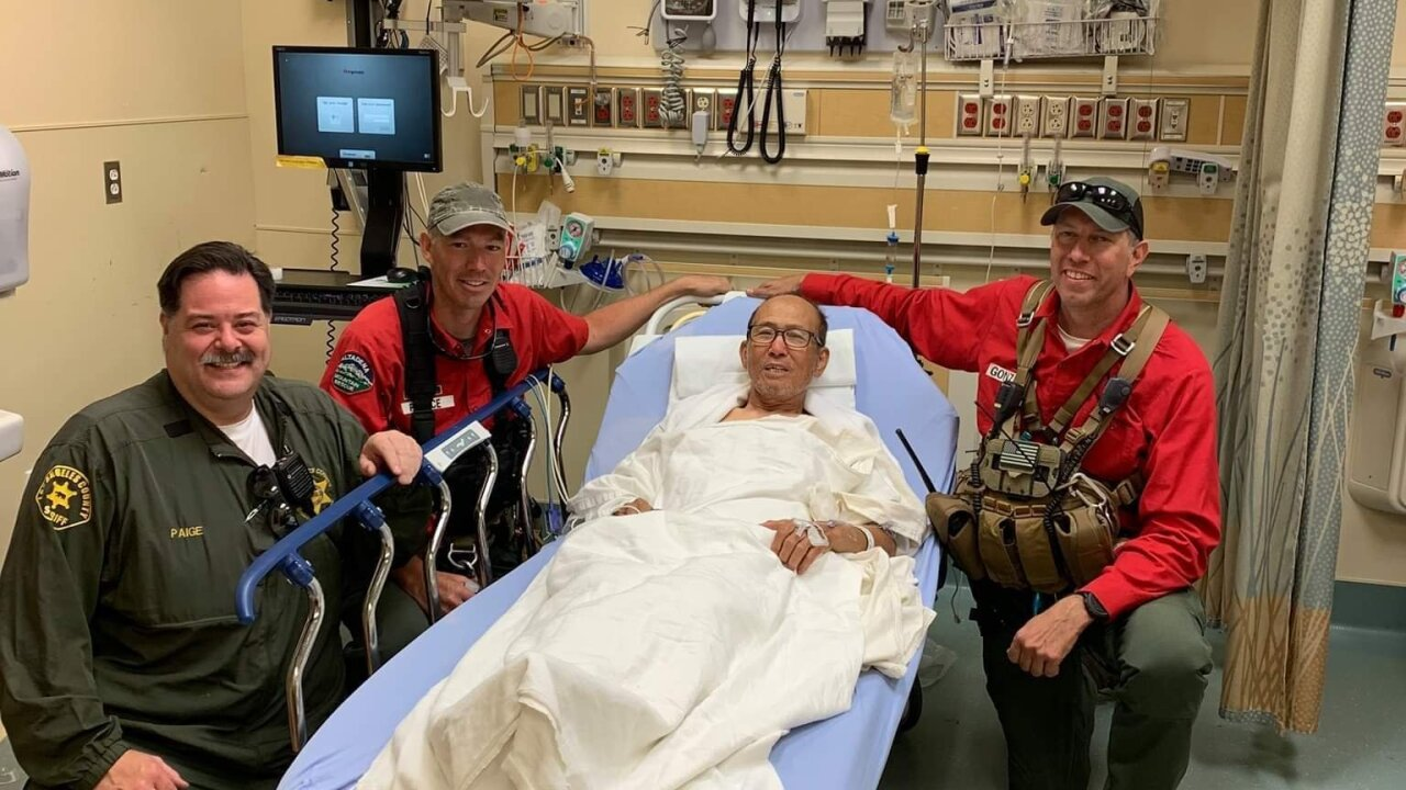 73-year-old hiker discharged after surviving 1 week in Angeles National Forest