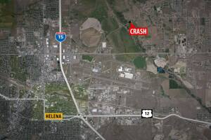 Map shows the location of a crash Saturday morning that killed a 15-year-old girl