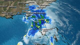 Tropical Storm Nestor moves inland with heavy rain, wind