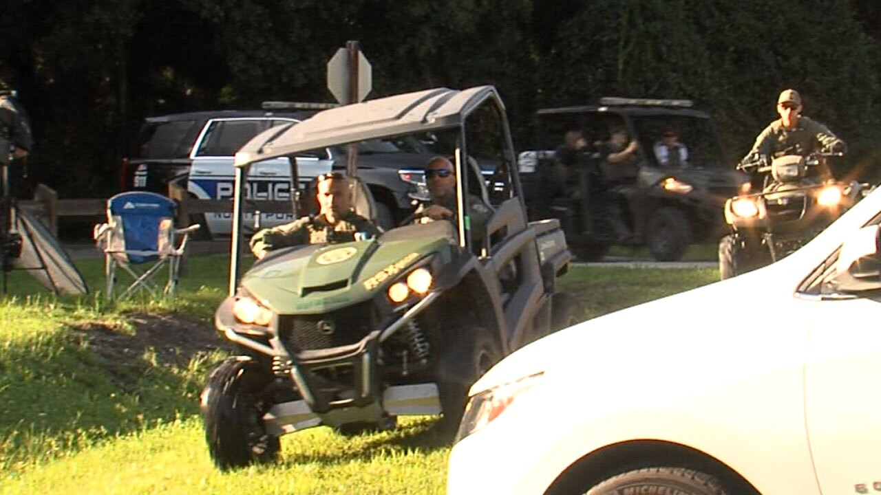 Searchers take ATVs out to search for Brian Laundrie on 9/19/2021