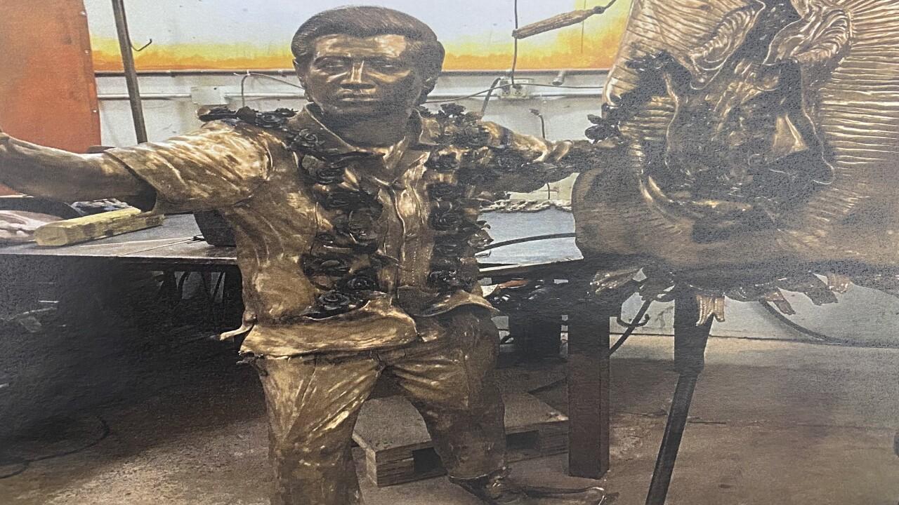 Cesar Chavez statute at five points intersection