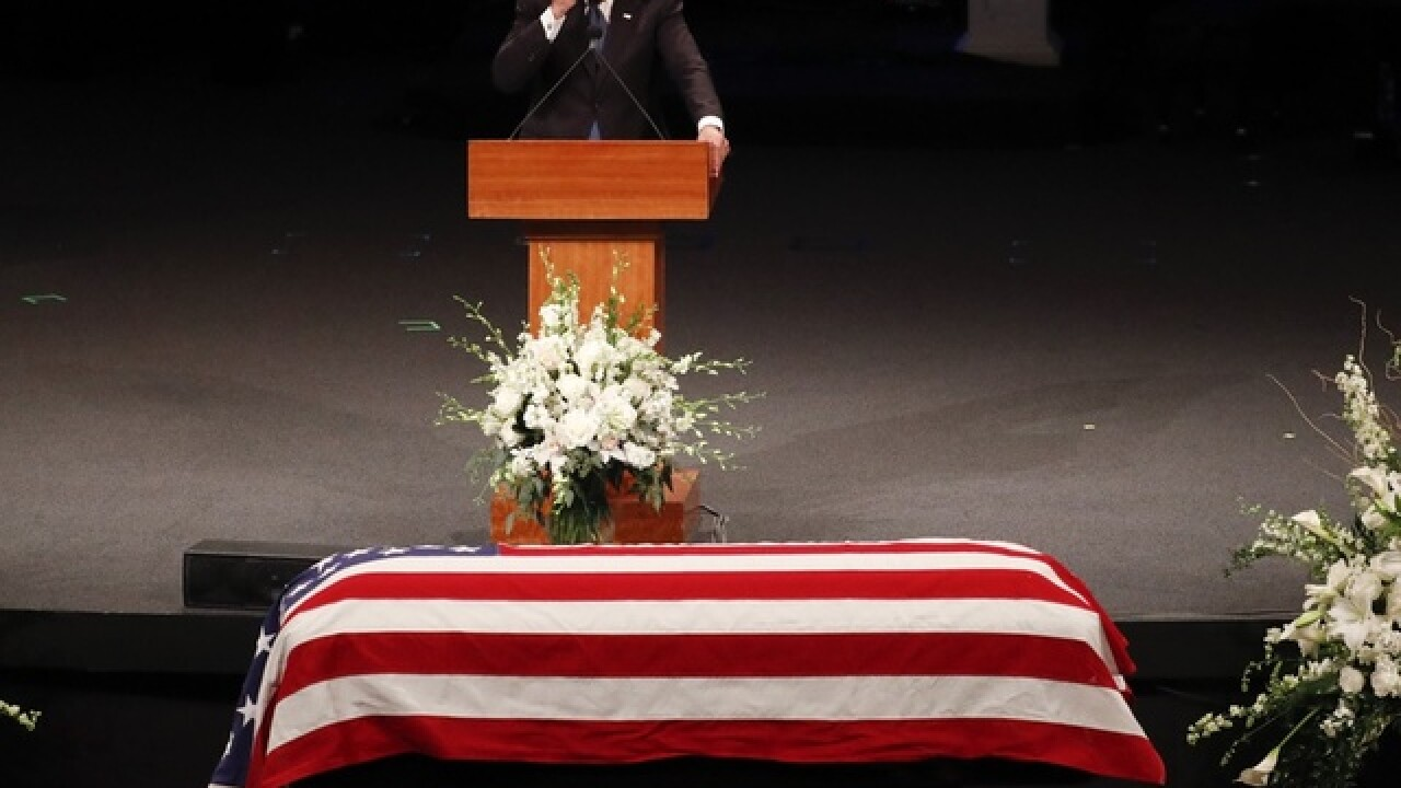 Friends call John McCain hero, maverick at Arizona funeral