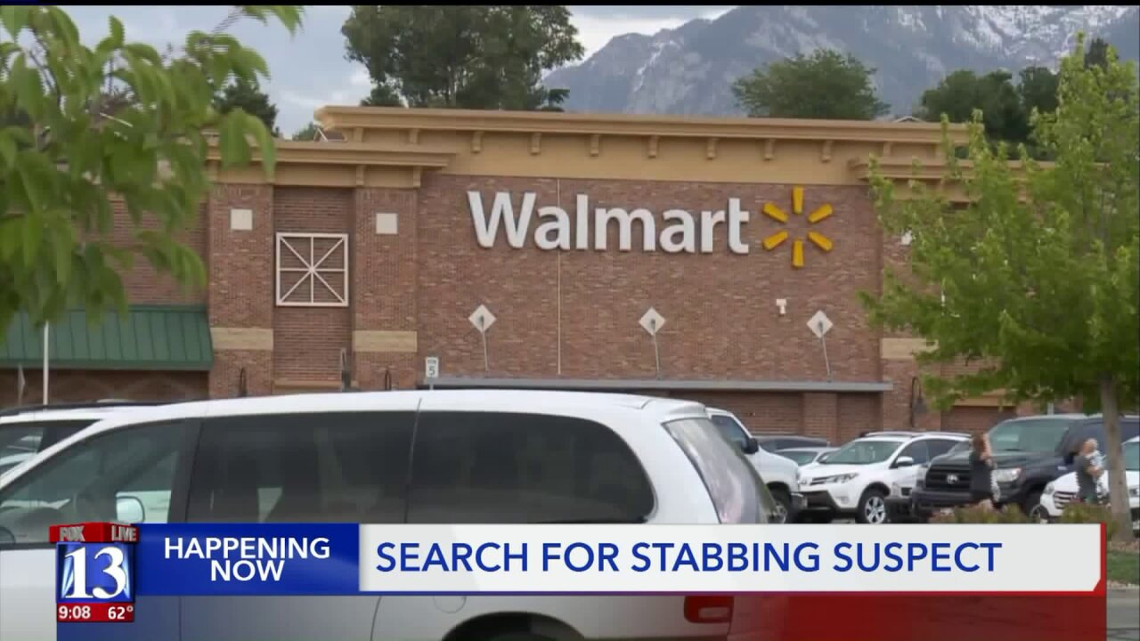 One person stabbed at Sandy Walmart; police searching for suspect