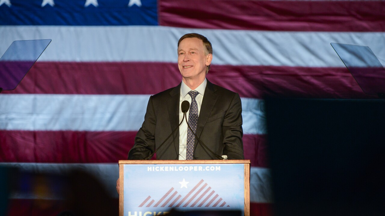 Former Colorado Governor And Democratic Presidential Candidate John Hickenlooper Holds Campaign Kick-Off Rally In Denver