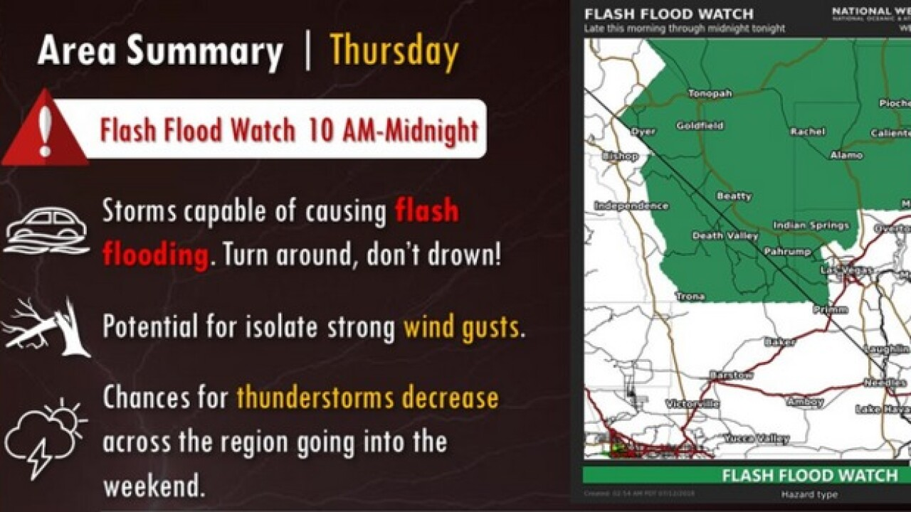 Flash flood watch in effect thru midnight