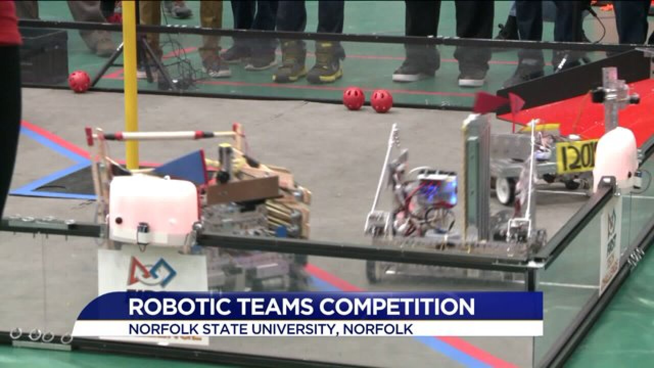 Robotics teams compete at Norfolk State University