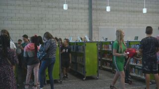 The new library at Chinook Trail Middle School
