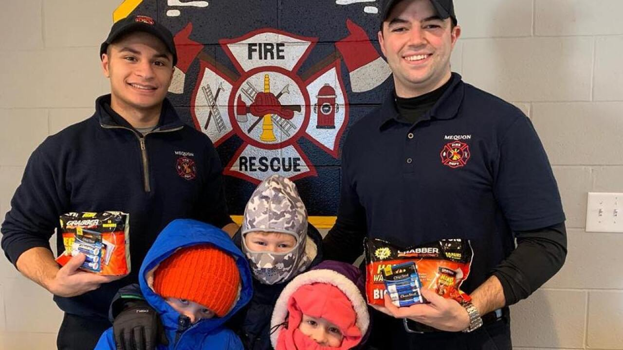 Residents thank Mequon Fire Department for keeping them safe during the bitter cold.